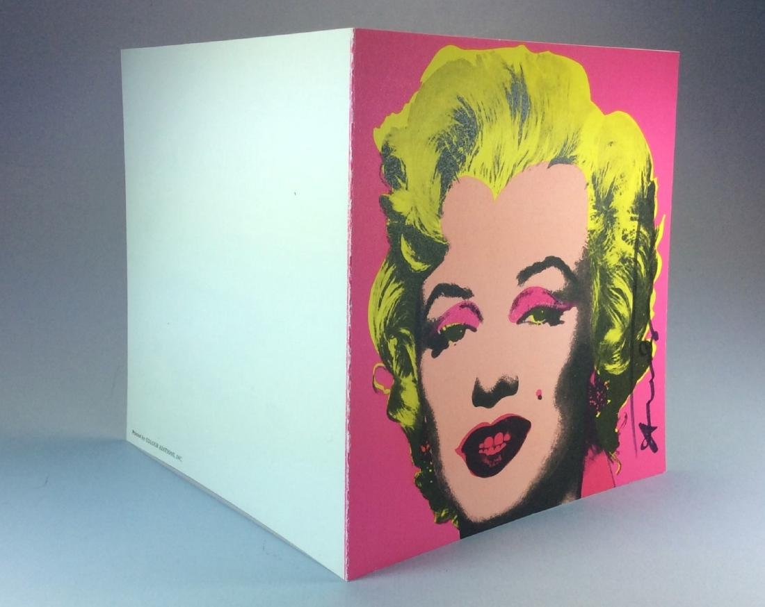 ANDY WARHOL CASTELLI INVITATION PINK MARILYN 1981 - 3