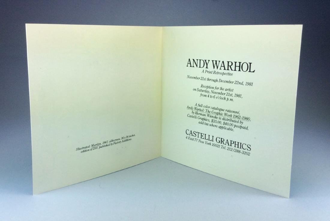 ANDY WARHOL CASTELLI INVITATION PINK MARILYN 1981 - 5