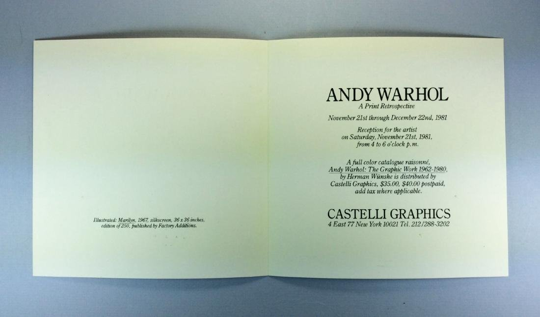 ANDY WARHOL CASTELLI INVITATION PINK MARILYN 1981 - 6