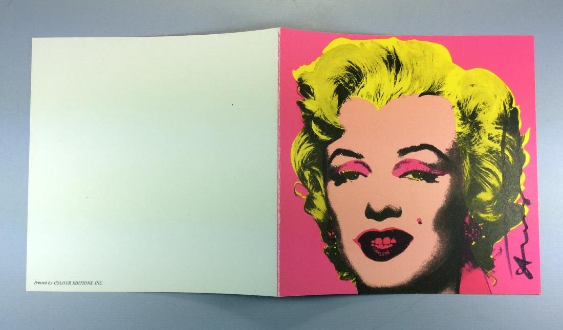 ANDY WARHOL CASTELLI INVITATION PINK MARILYN 1981 - 7