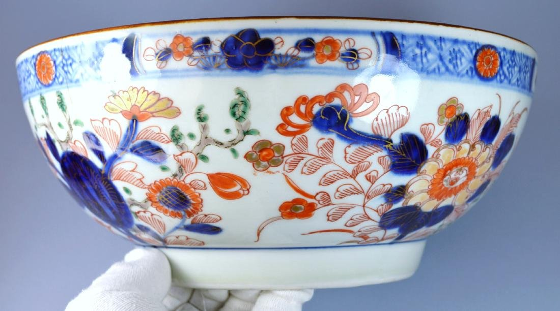 CHINESE QIANLONG VERY LARGE PORC BOWL 18TH C - 2