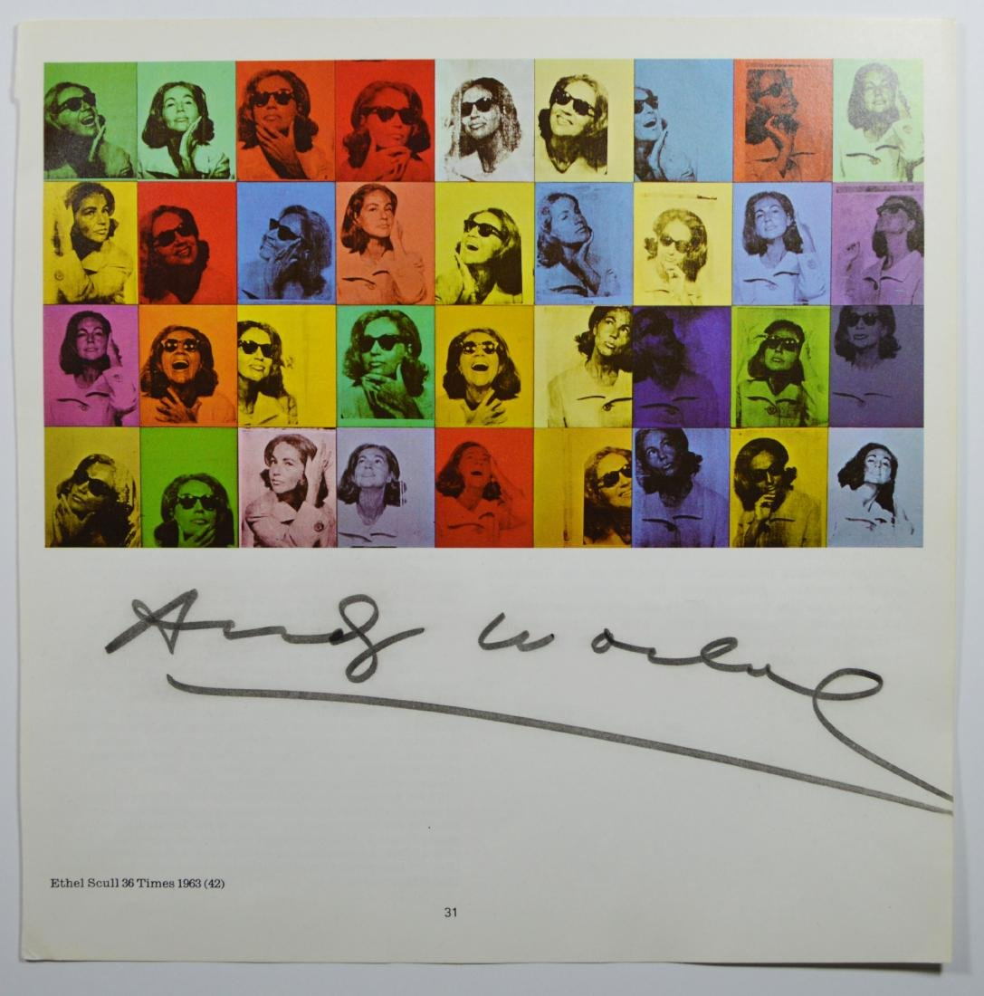 ANDY WARHOL SIGNED VINTAGE LITHOGRAPH