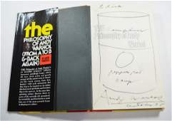 THE PHILOSOPHY OF ANDY WARHOL BOOK 1975