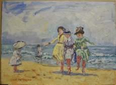 JANE PETERSON ATTR. OIL ON BOARD