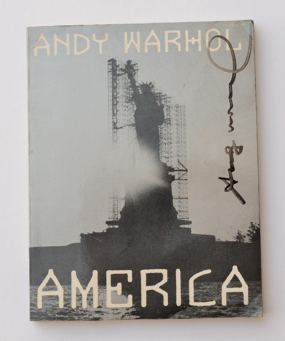 ANDY WARHOL LITHOGRAPH SIGNED  BOOK, AMERICA 1985
