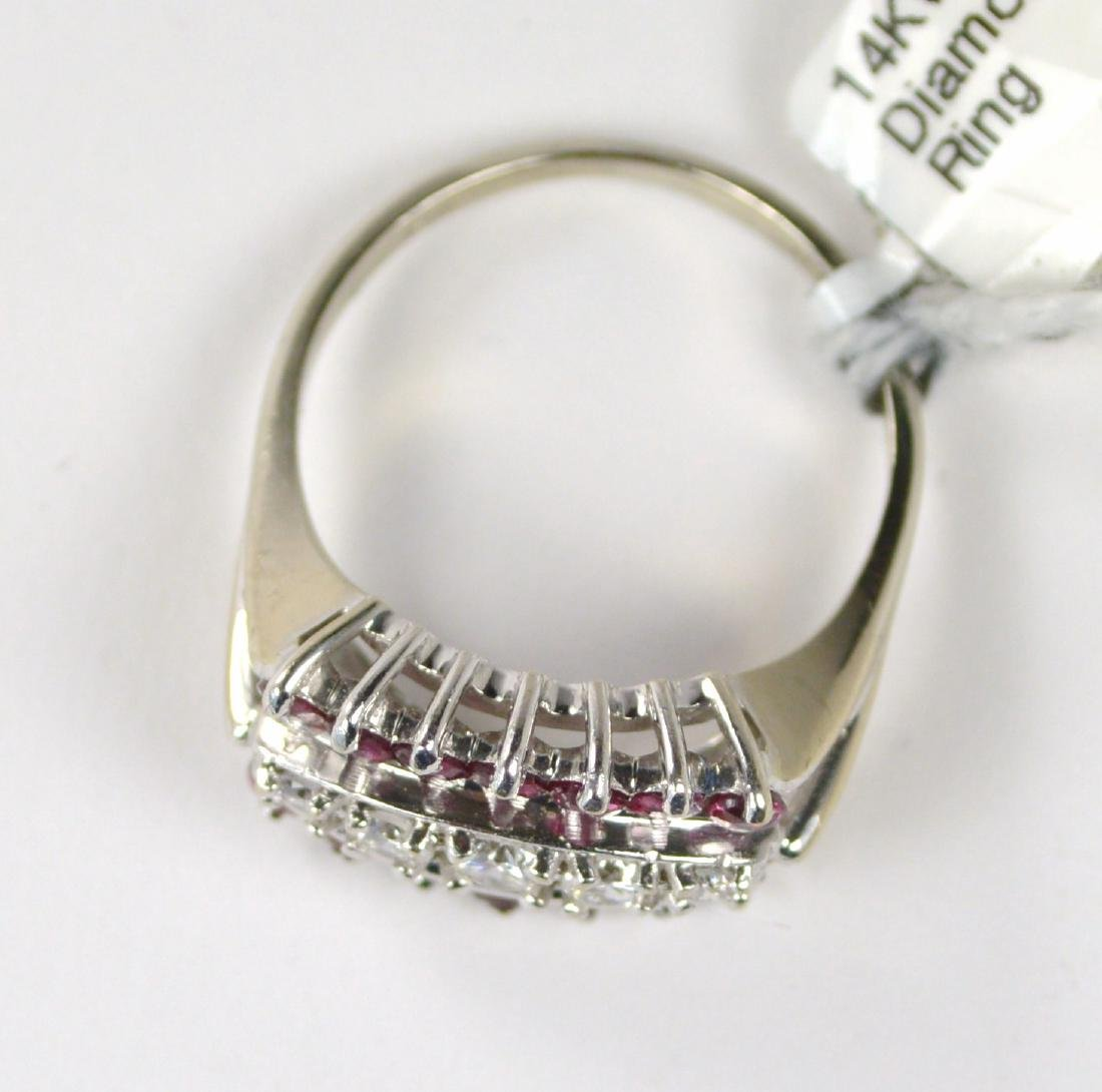 RING 14 KT GOLD WITH DIAMONDS AND RUBIES - 2