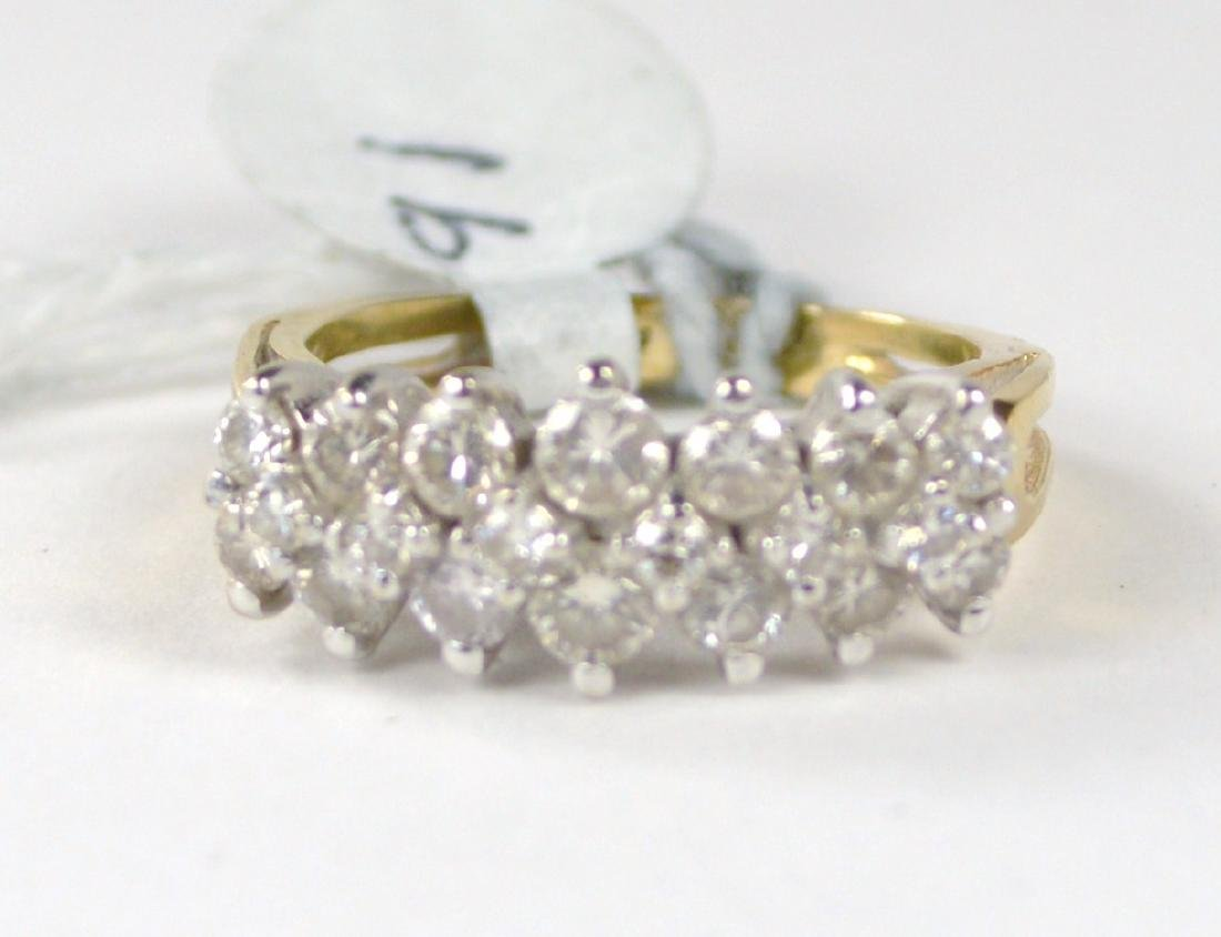 RING 14 KT GOLD WITH DIAMONDS