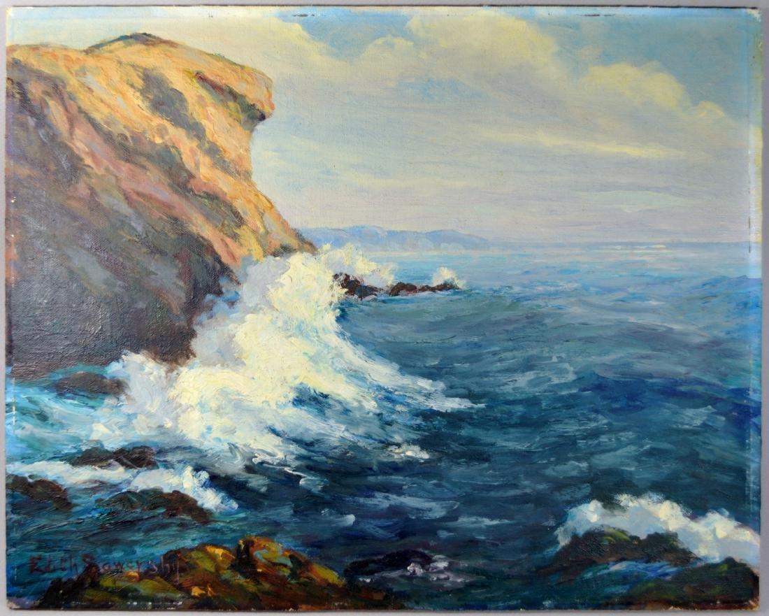 EDITH SOWERSBY (1875-1959) CALIFORNIA OIL ON BOARD