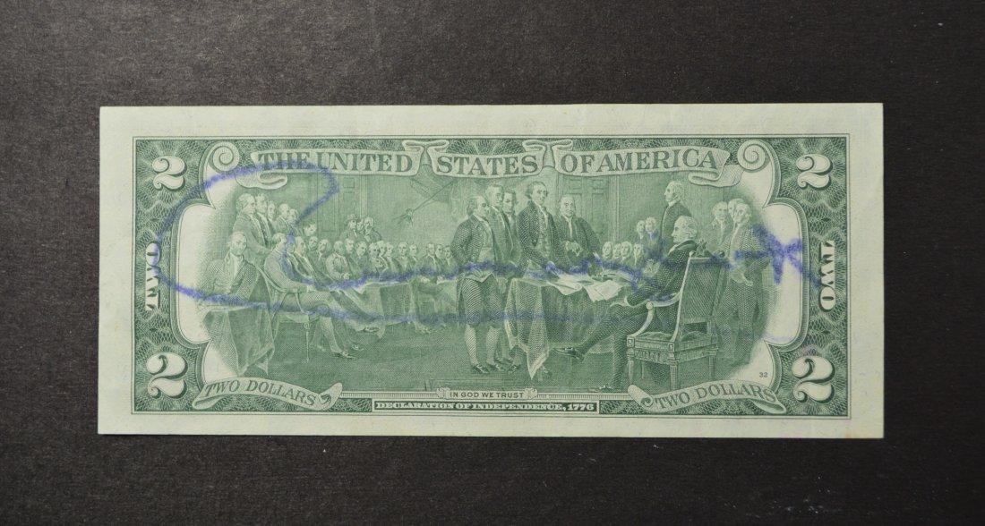 ANDY WARHOL SGD TWO DOLLAR BILL 1970'S - 2