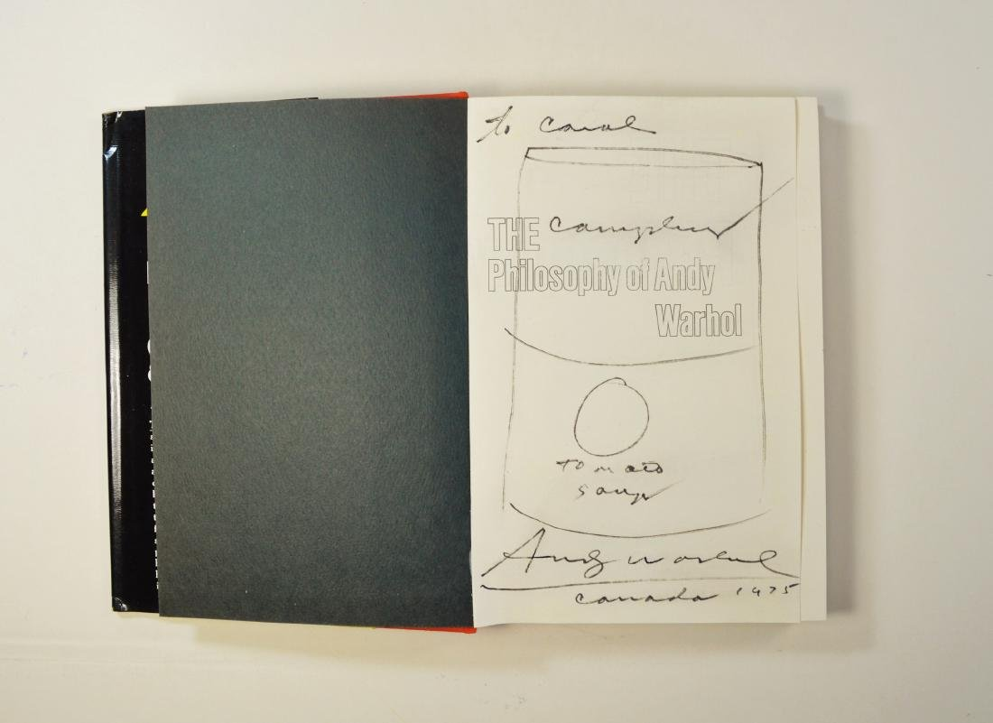 PHILOSOPHY OF ANDY WARHOL WITH BOOK STYLIZED DRAWING