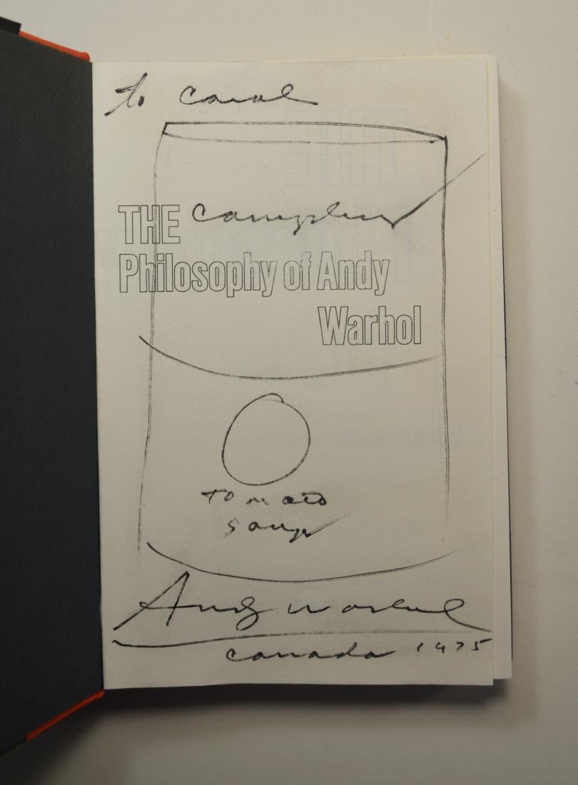 PHILOSOPHY OF ANDY WARHOL WITH BOOK STYLIZED DRAWING - 2