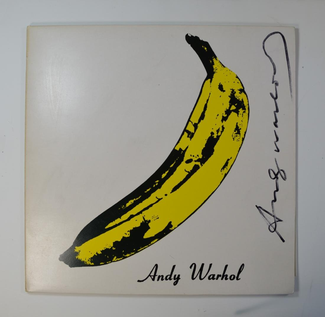 ANDY WARHOL VELVET UNDERGROUND WITH NICO LP WITH SIGNED
