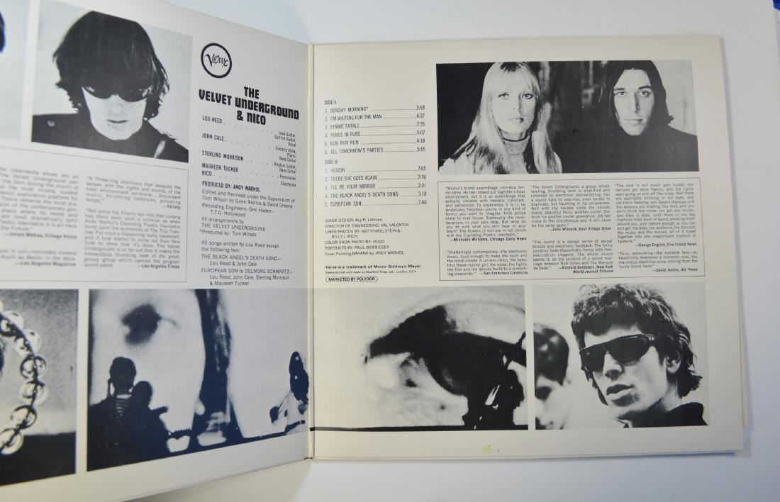 ANDY WARHOL VELVET UNDERGROUND WITH NICO LP WITH SIGNED - 3