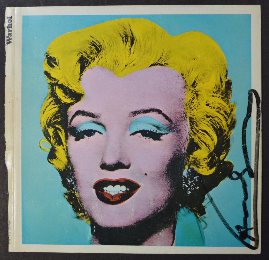 ANDY WARHOL TATE GALLERY BOOKLET COVER SIGNED WITH INK