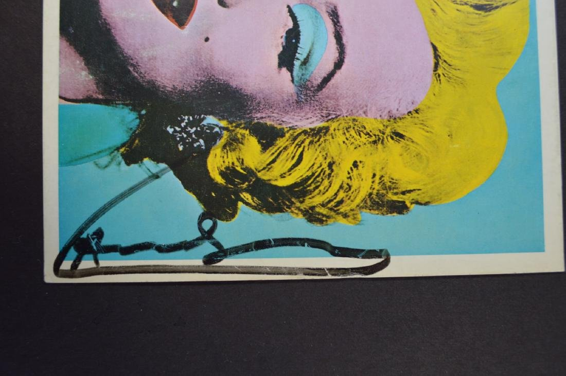 ANDY WARHOL TATE GALLERY BOOKLET COVER SIGNED WITH INK - 2
