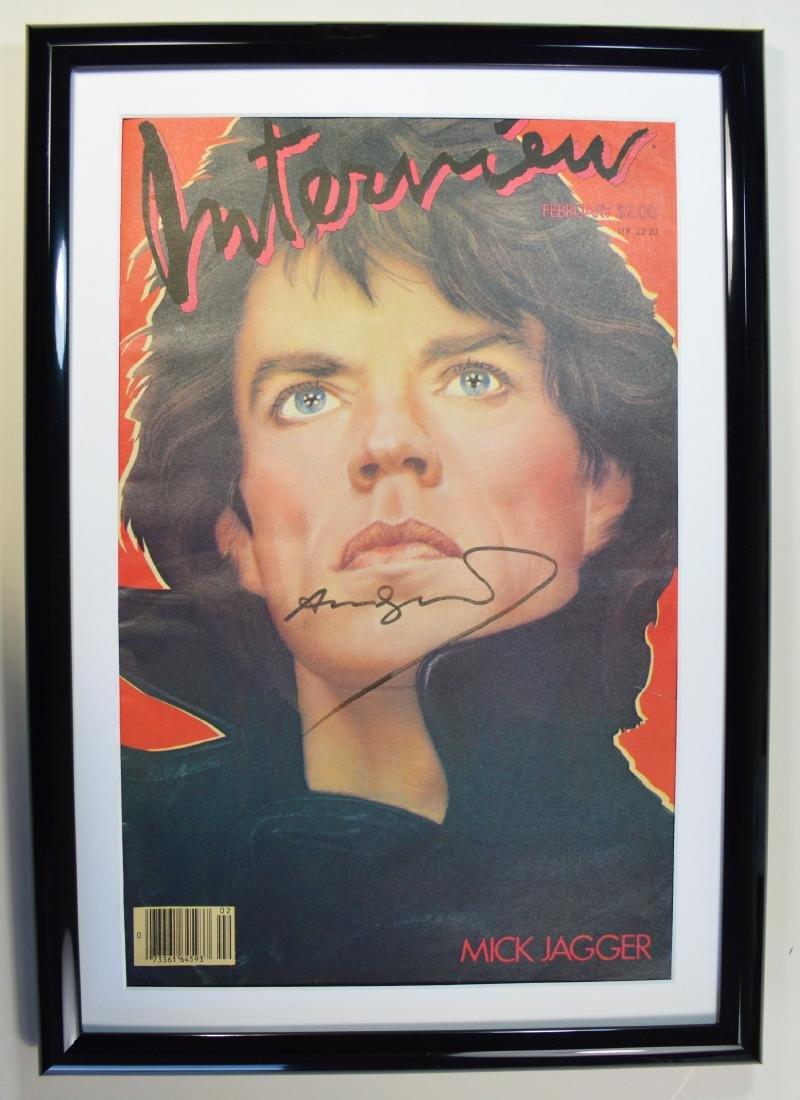 ANDY WARHOL INTERVIEW MAGAZINE -  MICK JAGGER 1985