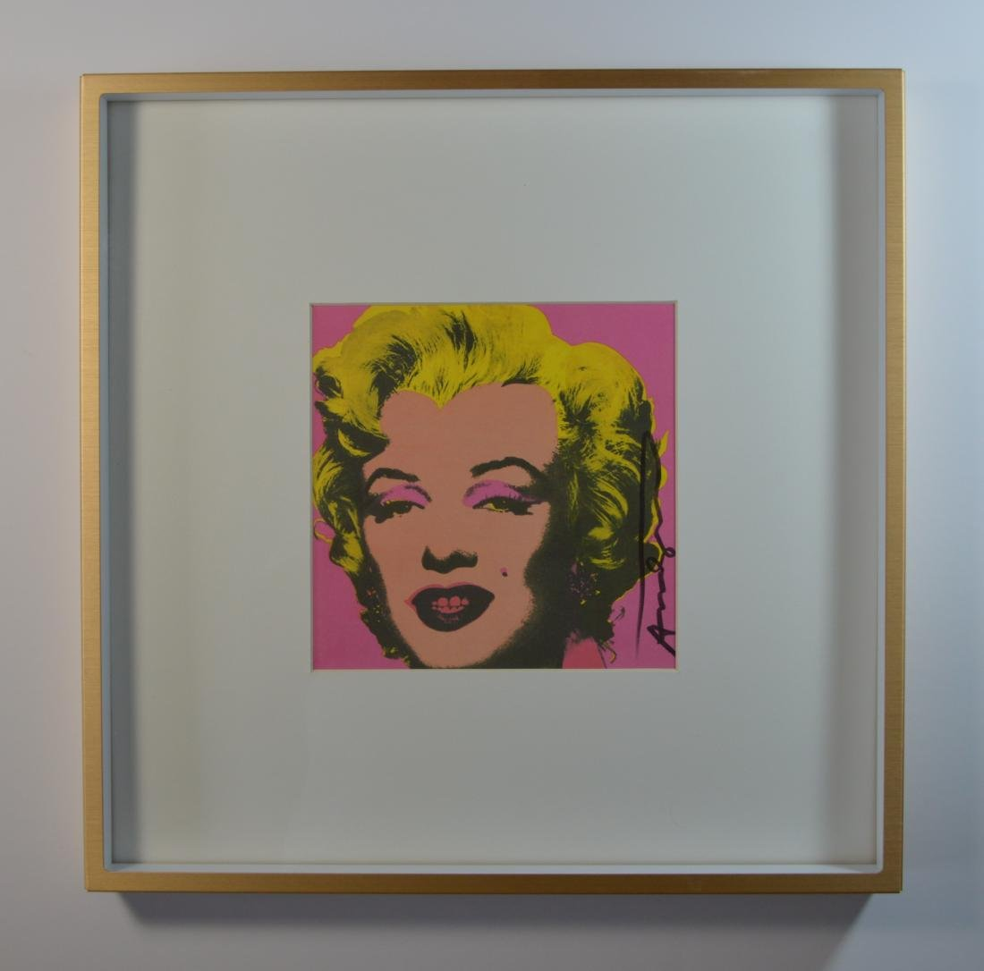 ANDY WARHOL MARILYN CASTELLI INVITATION 1981