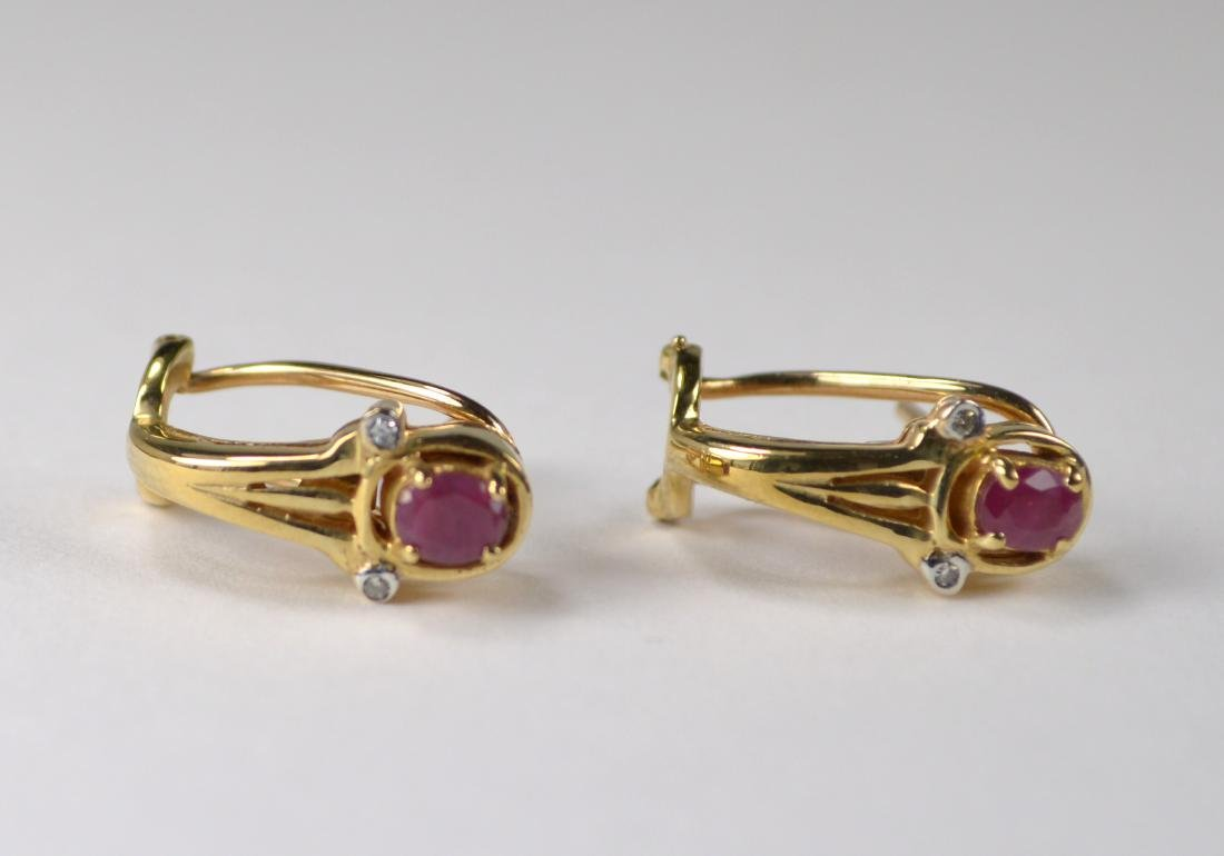 EARRINGS, 14 KT GOLD