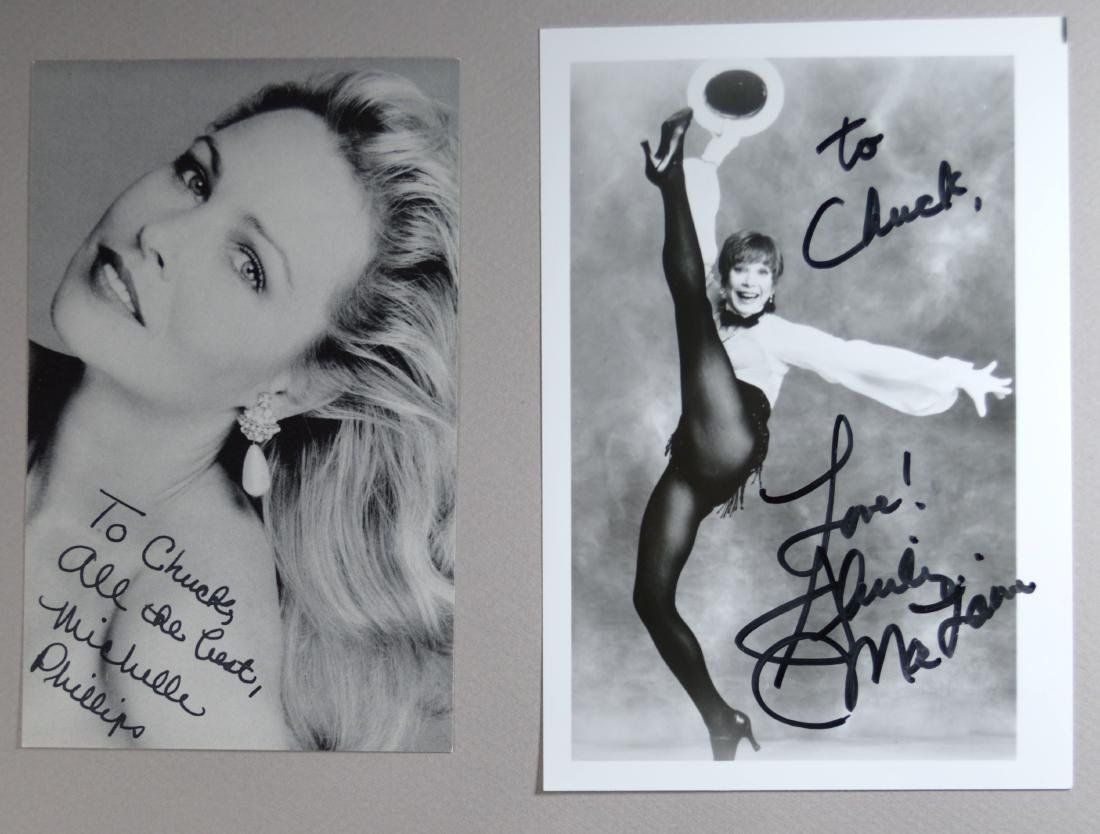 SHIRLEY MACLAINE AND MICHELLE PHILLIPS SIGNED AND