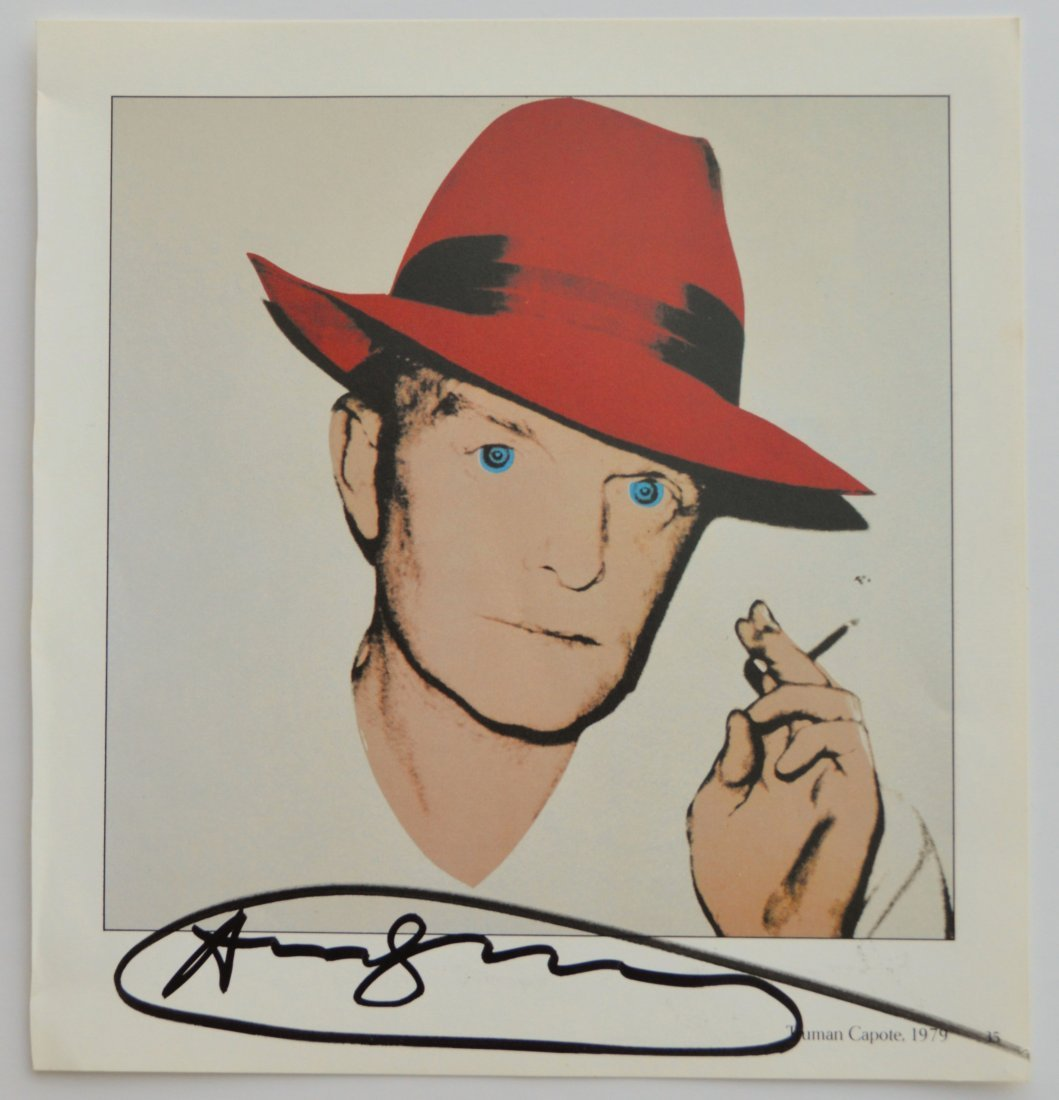 "ANDY WARHOL SIGNED VINTAGE PRINT ""TRUMAN CAPOTE"""