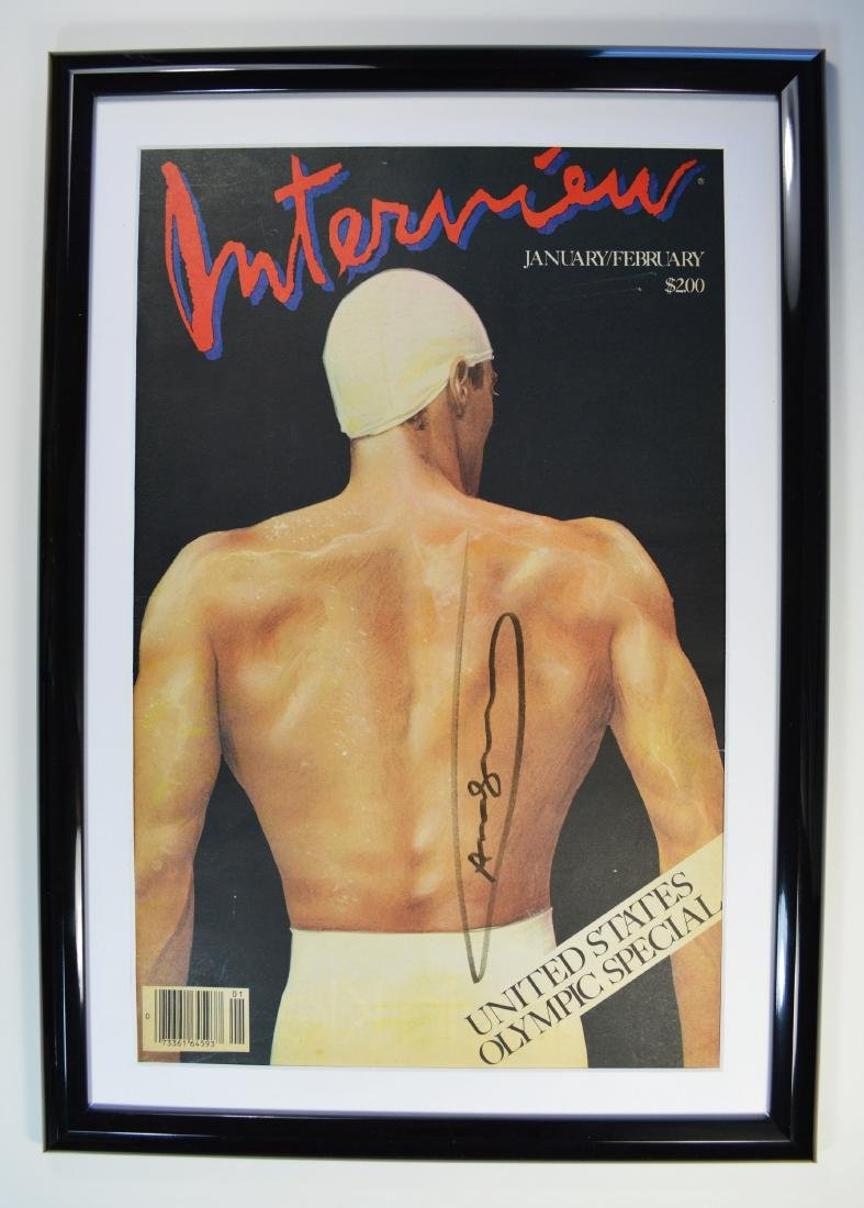 """ANDY WARHOL INTERVIEW MAGAZINE SIGNED """"OLYMPIC EDITION"""""""