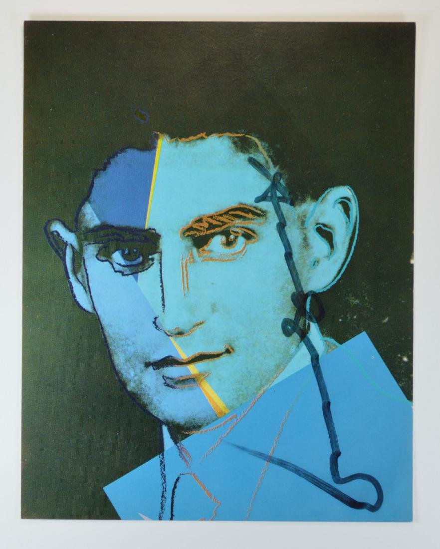 ANDY WARHOL SIGNED INVITATION FROM JEWS OF THE 20TH C