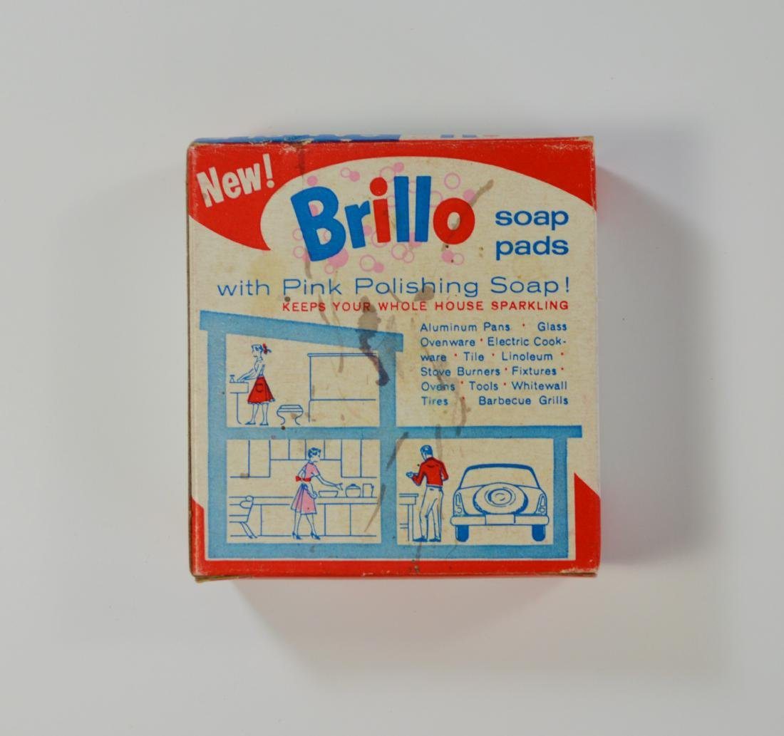 VINTAGE BRILLO BOX ANDY WARHOL SIGNED - 2
