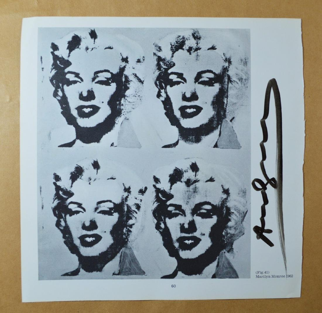 ANDY WARHOL SIGNED VINTAGE PRINT, MARILYN FOUR TIMES