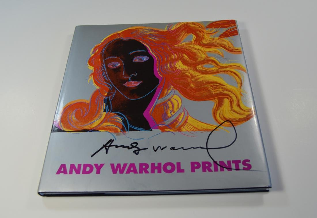 ANDY WARHOL PRINTS BOOK FIRST EDITION 1985 SIGNED