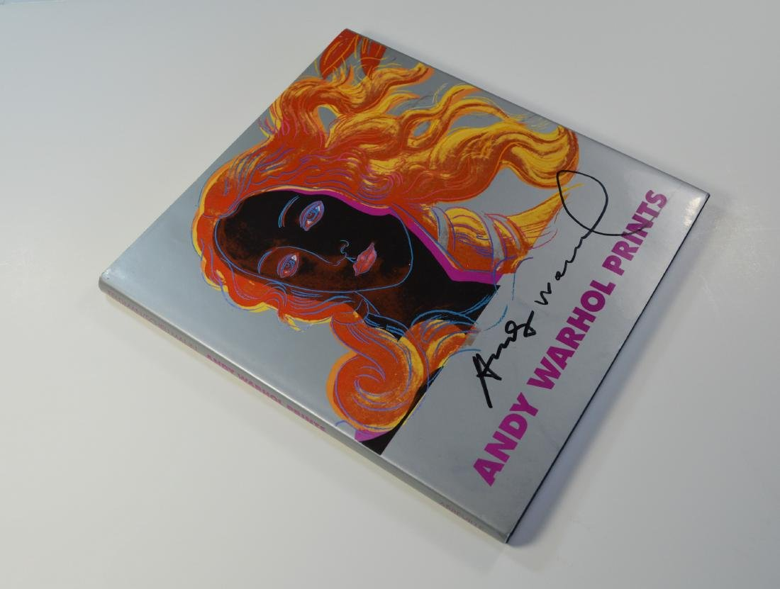 ANDY WARHOL PRINTS BOOK FIRST EDITION 1985 SIGNED - 2