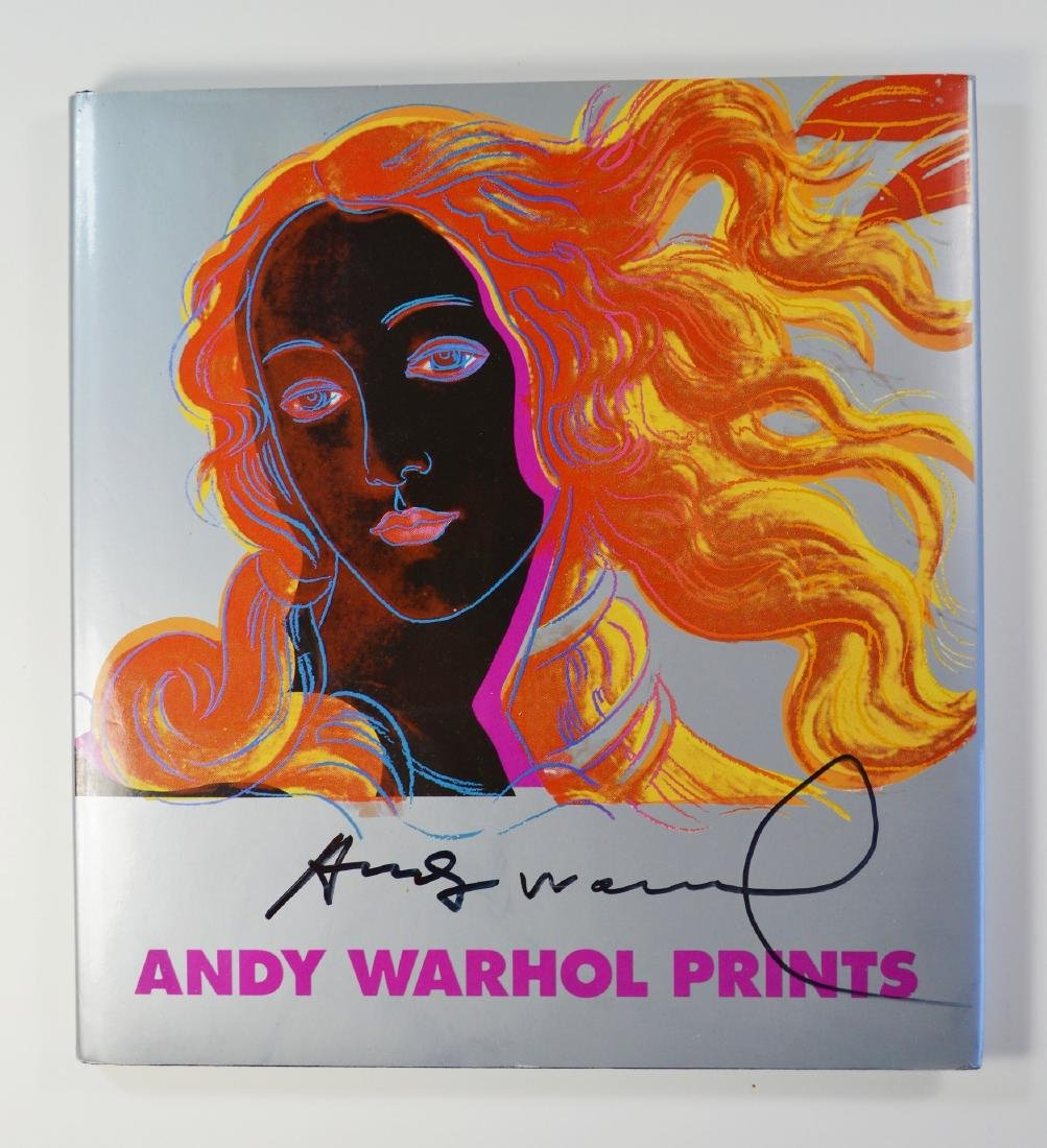 ANDY WARHOL PRINTS BOOK FIRST EDITION 1985 SIGNED - 3