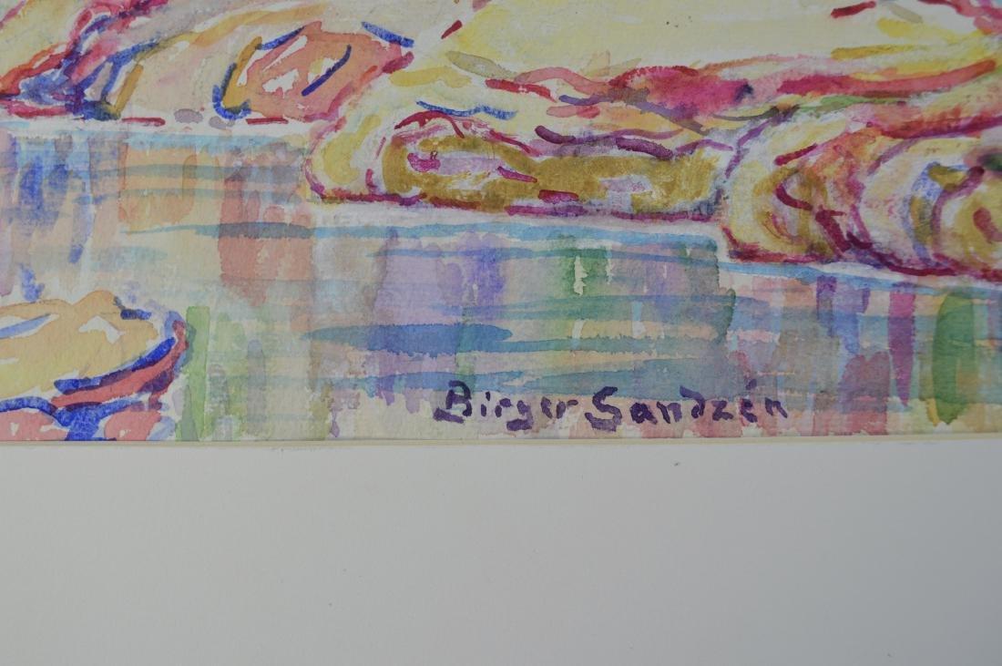 WATERCOLOR ON PAPER BIRGER SANDZEN - 3
