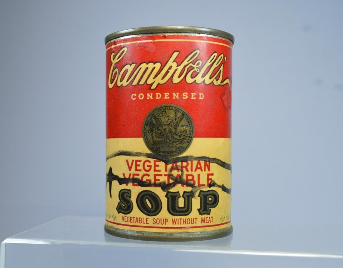 ANDY WARHOL SIGNED CAMPBELL'S SOUP CAN - 2