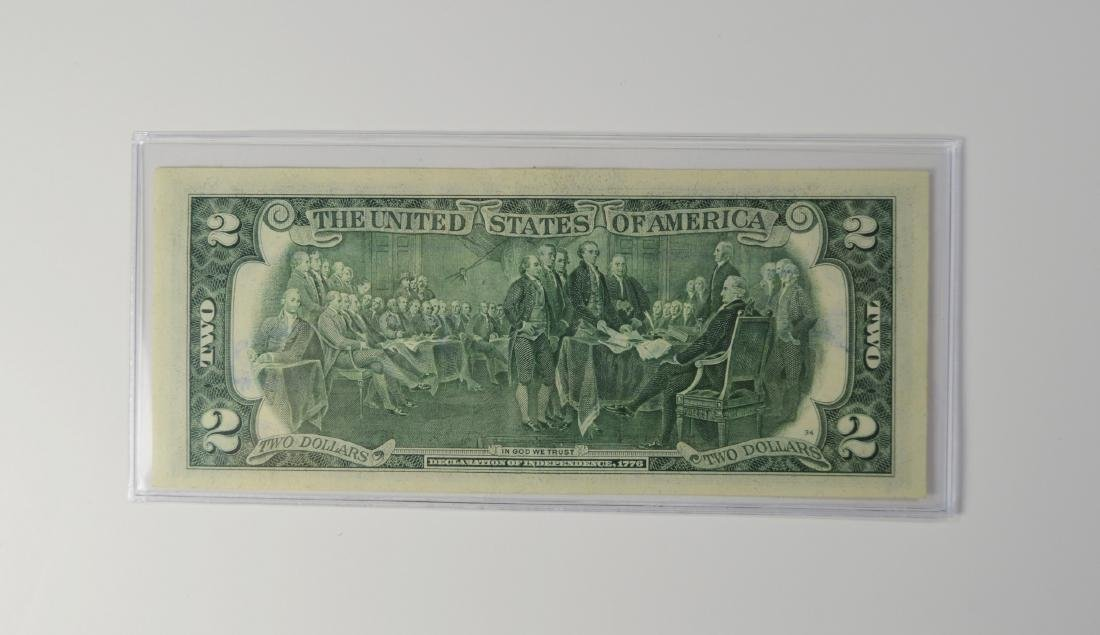 ANDY WARHOL 2 DOLLAR US CURRENCY BILL SIGNED 1976 - 2