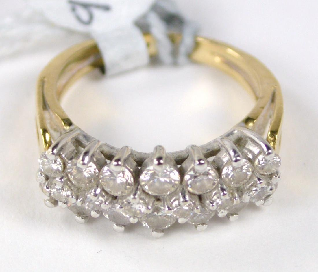 RING 14 KT GOLD WITH DIAMONDS - 2