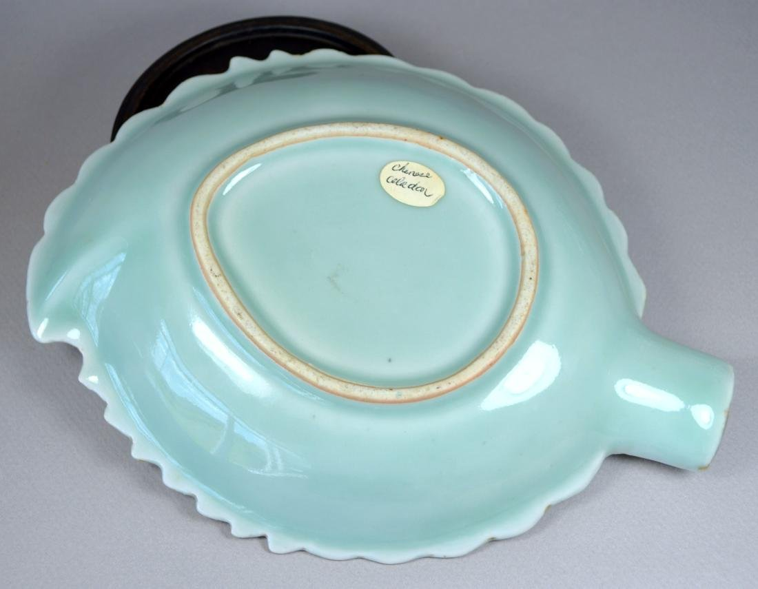 CHINESE CELADON SMALL LEAF DISH - 3