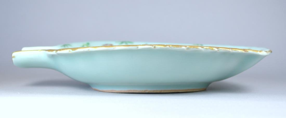 CHINESE CELADON SMALL LEAF DISH - 4