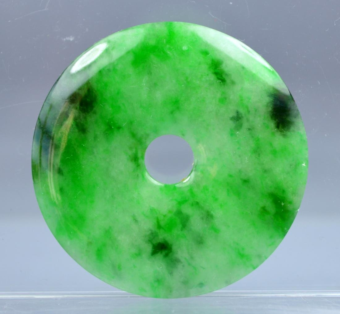 CHINESE CERTIFIED TOP CERTIFIED GREEN CARVED JADE - 2