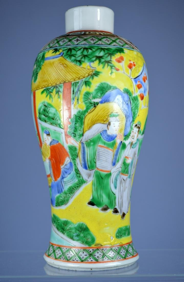 CHINESE PORC MEIPING VASE CA 19TH C - 3