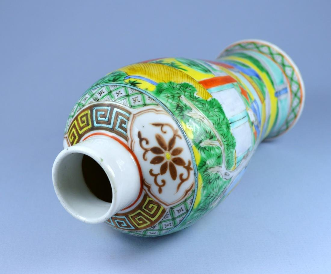 CHINESE PORC MEIPING VASE CA 19TH C - 6