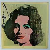 ANDY WARHOL LIZ TATE GALLERY BOOKLET BACK COVER 1971