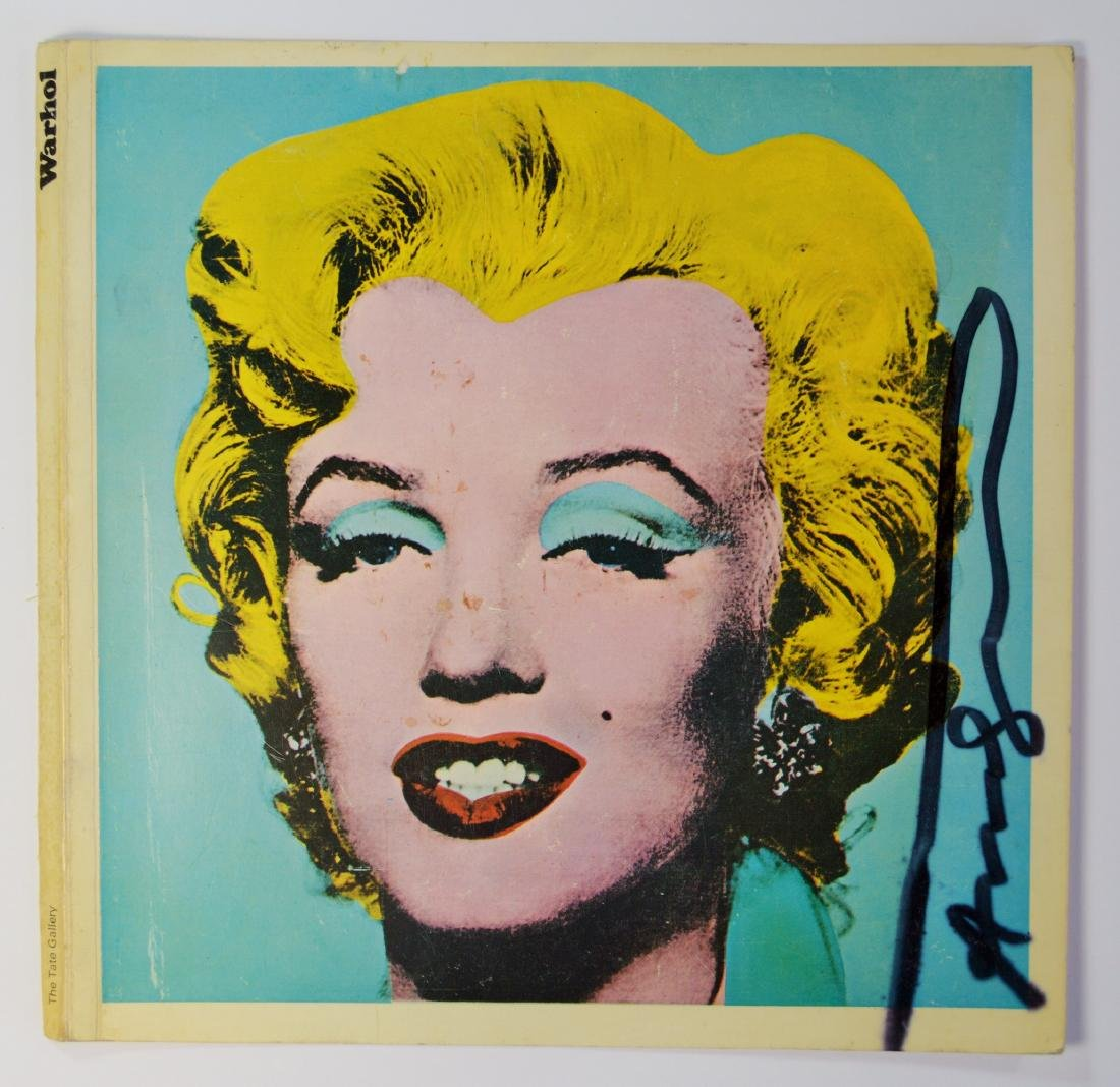 "ANDY WARHOL ""MARILYN"" TATE GALLERY COVER 1971 SIGNED"