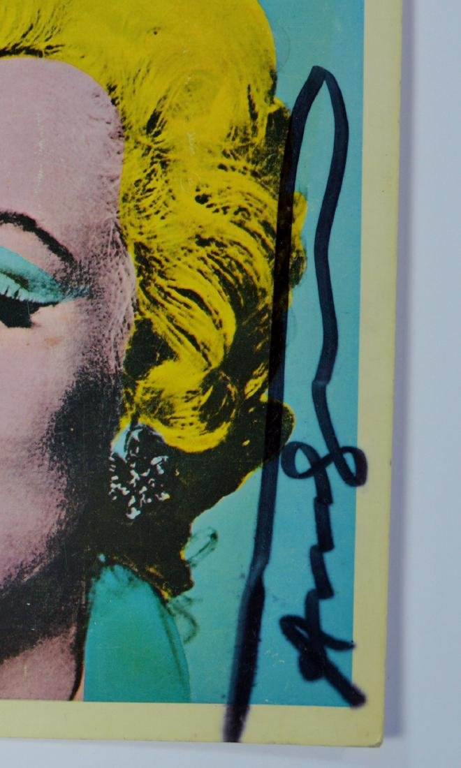 "ANDY WARHOL ""MARILYN"" TATE GALLERY COVER 1971 SIGNED - 2"