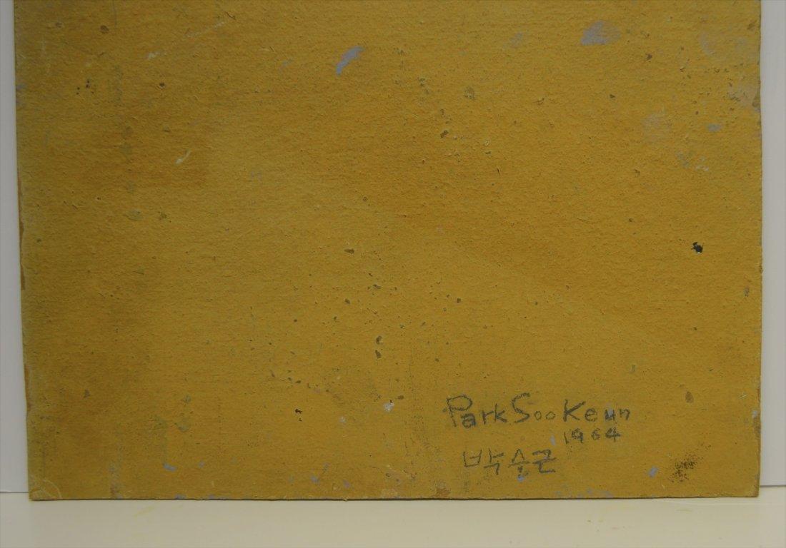 PARK SOO KEUN (ATTR) OIL ON BOARD - 8