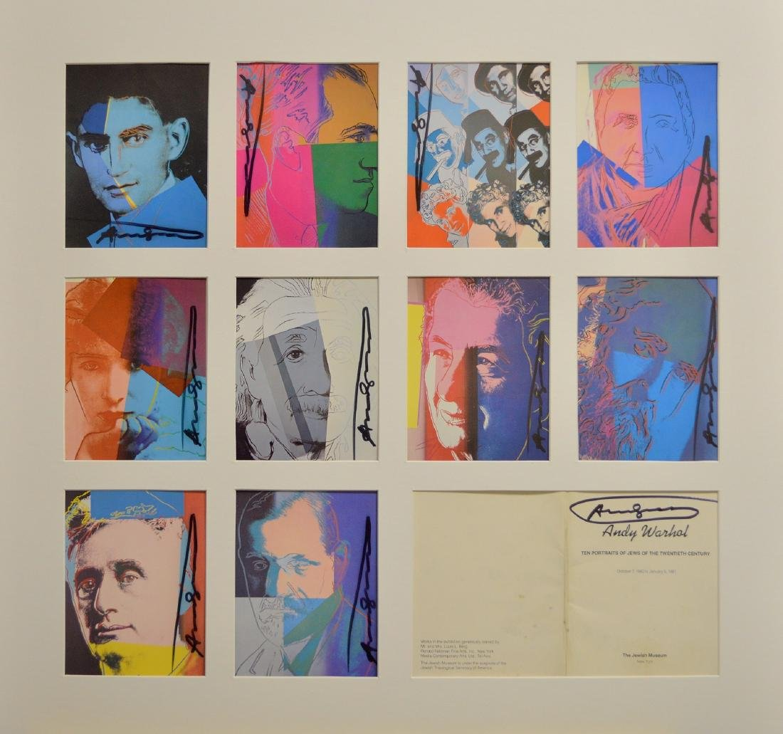 ANDY WARHOL JEWS OF THE 20TH CENTURY SET 1981