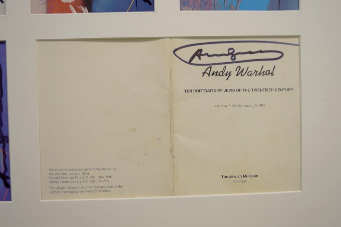 ANDY WARHOL JEWS OF THE 20TH CENTURY SET 1981 - 3