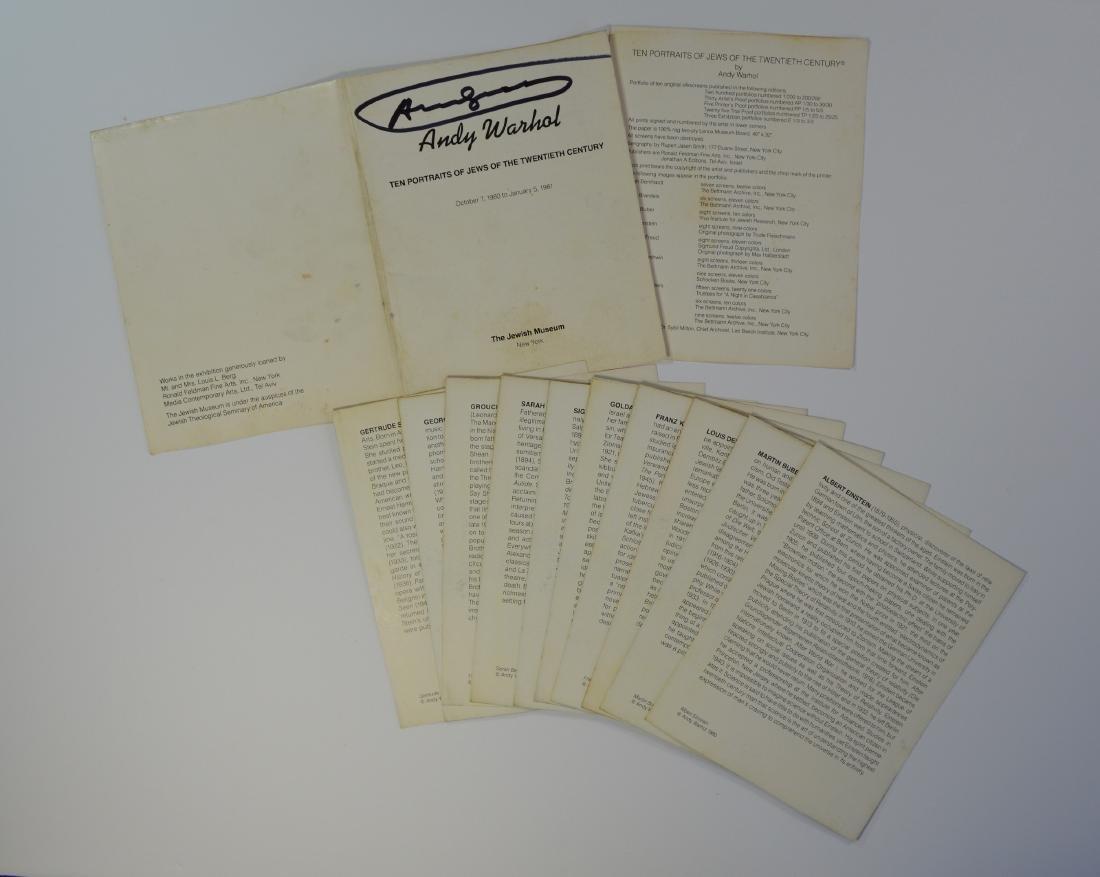ANDY WARHOL JEWS OF THE 20TH CENTURY SET 1981 - 5