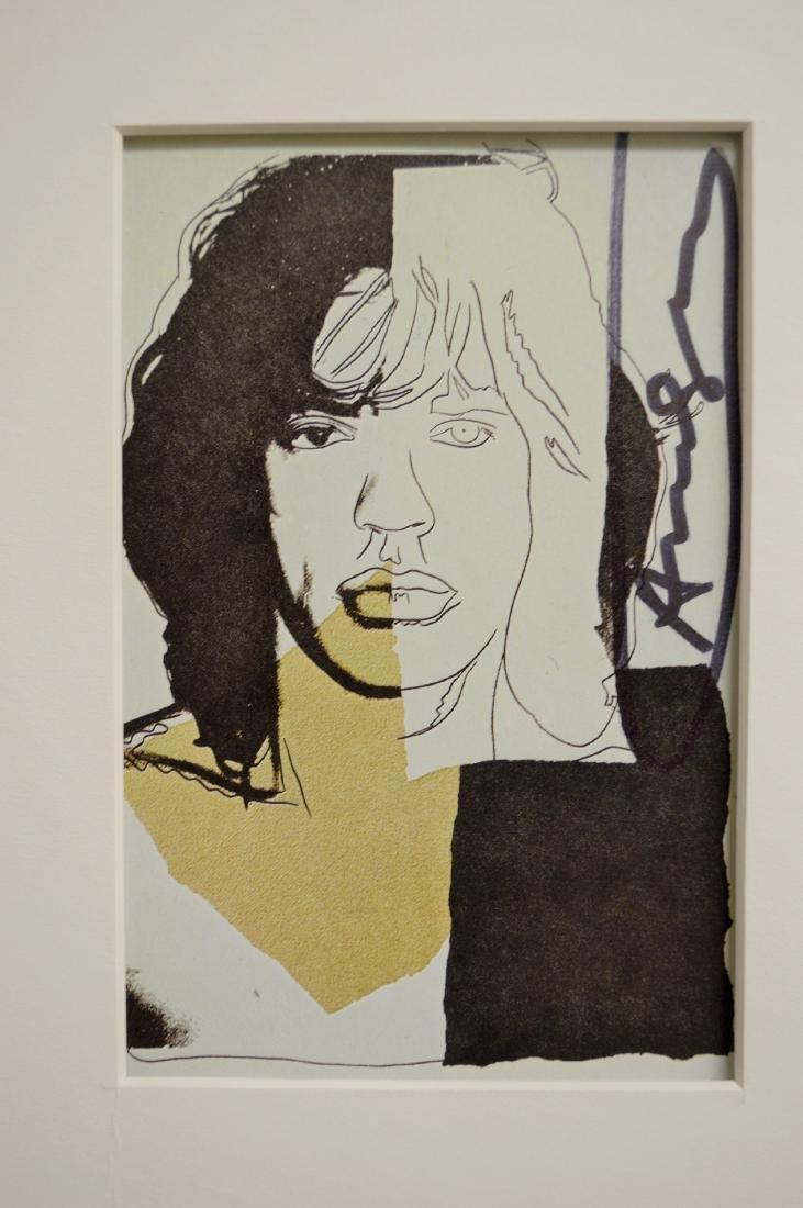 ANDY WARHOL MICK JAGGER INVITATION CARD SET 1975 - 3