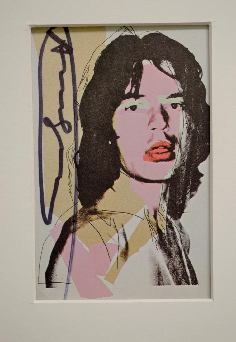 ANDY WARHOL MICK JAGGER INVITATION CARD SET 1975 - 4
