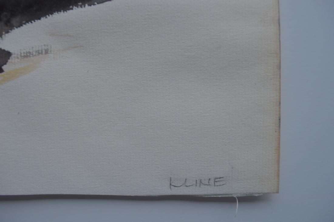 FRANZ KLINE ATTRIB INK PAINTING ON PAPER - 3